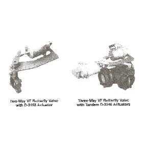 D-3152 D-3244 D-3246 Pneumatic Actuators for VF Series Butterfly Valves