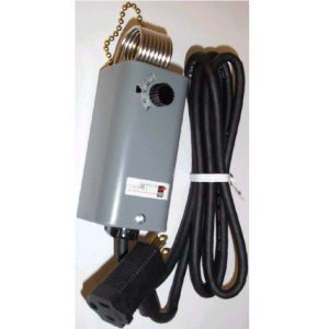 A19 Thermostat for Portable Heaters (Chain Mount & Drop Cord)