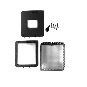 GRD10A-608 Plastic guard for surface-mounted thermostats.