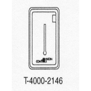 T-4000-2146 Beige Plastic Cover Vertical 1 window with thermometer