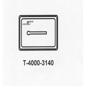 T-4000-3140 White Plastic Cover Thermometer Horizontal no window