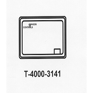 T-4000-3141 White Plastic Cover no Thermometer Horizontal 1 window