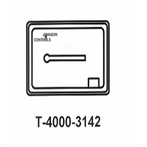 T-4000-3142 White Plastic Cover Thermometer Horizontal 1 window