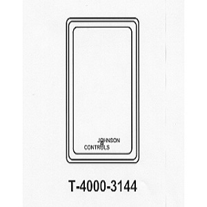 T-4000-3144 White Plastic Cover Vertical no Therm no window