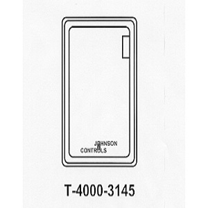 T-4000-3145 White Plastic Cover Vertical 1 window no therm