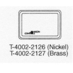 T-4002-2127 Metal Cover Horizontal, Brass