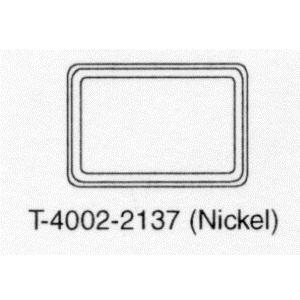 T-4002-2137 Metal Cover Horizontal, Nickel Blank