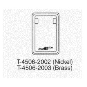 T-4506-2002 Metal Cover Verticle, No thermometer, Dual Windows, Nickel.