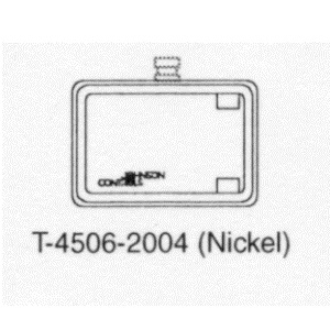 T-4506-2004 Metal  Cover Horizontal, No thermometer, Indes switch slot, Dual Windows, Nickel