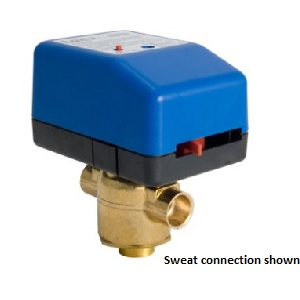 """VM3417T33A00T 1"""" Swt, 3-Way, 35 PSI, 24V, Floating, w/Time-Out"""