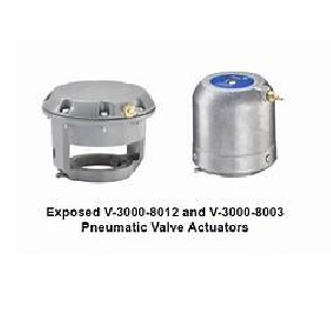 V-3000 Pneumatic Valve Actuators Exposed and Enclosed